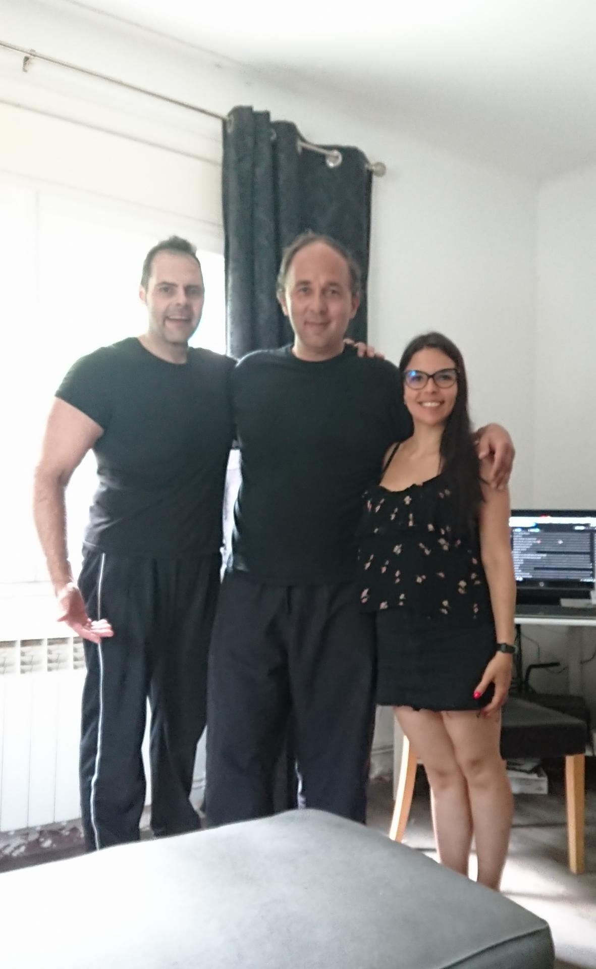 Avec Adrian et Andrea Soler
